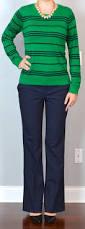 post green u0026 navy striped sweater navy work pants black