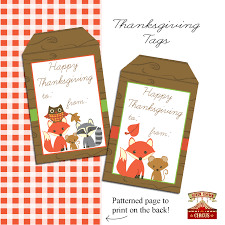 thanksgiving printable tag free