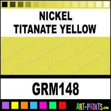 nickel titanate yellow grumbacher oil paints grm148 nickel