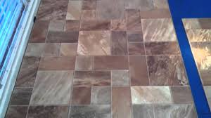 Travertine Effect Laminate Flooring Tile Pattern Laminate Flooring Youtube