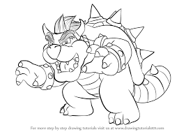 learn draw bowser super mario super mario step