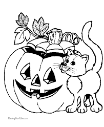 cat halloween coloring pages 021
