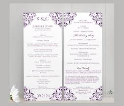wedding program design template wedding ceremony program template 36 word pdf psd indesign