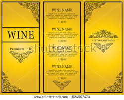 Designs Of Menu Card Vintage Design Restaurant Menu Wine List Stock Vector 524507416