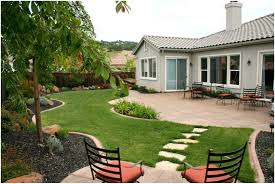 backyard with low maintenance plants and deck easy pics with