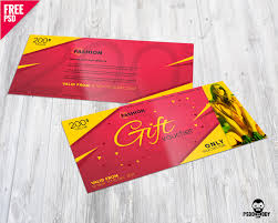custom gift certificates fashion gift voucher free psd psddaddy