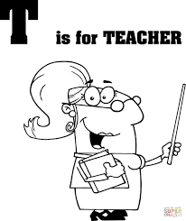 letter t is for teacher coloring page free printable coloring pages