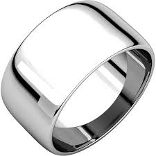 wedding bands white gold 11683110we wedding band white gold 10mm domed