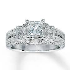 princess cut engagement rings white gold engagement ring 1 3 8 ct tw princess cut 14k white gold