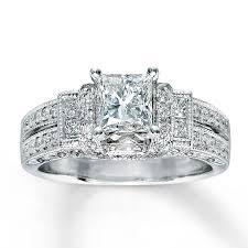 engagement rings princess cut white gold engagement ring 1 3 8 ct tw princess cut 14k white gold