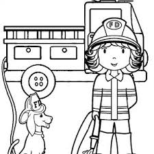 firefighter coloring pages to print realistic pages