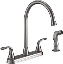 freendo two handle high arc kitchen faucet with side spray