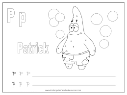 spongebob alphabet worksheets uppercase and lowercase