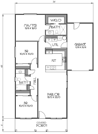 Small Floor Plans by Cottage Style House Plan 3 Beds 2 Baths 1152 Sq Ft Plan 423 57