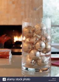 ornaments in glass vase stock photo royalty free image 18693416