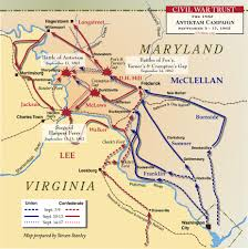 Map Of Confederate States by Civil War Battle Maps Antietam Battle Of American Civil War From