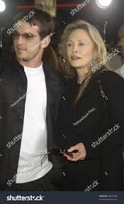 Bad Boys Ii Actress Faye Dunaway Son Liam Oneill Stock Photo 98470586