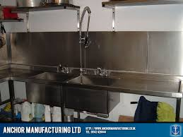 Restaurant Kitchen Sink And Pullout Spout Tap Anchor - Restaurant kitchen sinks