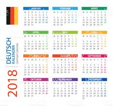 Kalender 2018 Germany Kalender 2018 Square Deutsche Version Vektor Illustration