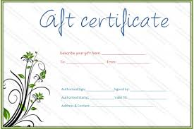 doc 1800900 template for gift card u2013 printable gift certificate
