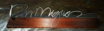Custom Desk Name Plates by Hartcrafters Custom Metal Art Custom Desk Name Plate