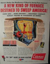 Corn Furnace 1944 Coleman Lamp And Stove Company Floor Level Floor Furnace Ad