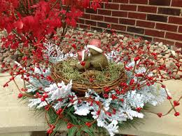 home element christmas table centerpiece decor bird nest by