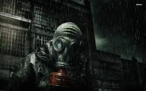 steampunk halloween background gas mask art wearing a gas mask in the rain wallpaper digital
