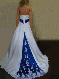 white wedding dress with royal blue sash wedding guest dresses