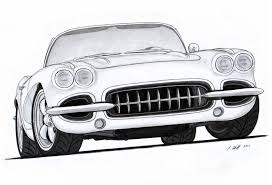nissan 350z drawing 1962 chevy corvette roadster pro touring drawing by vertualissimo