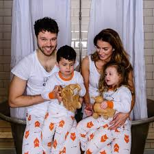 fox tales children s matching family pyjamas with sleeve top