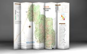 Map Of Zion National Park Day Hikes Of Zion National Park Map Guide