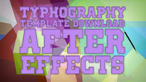 typhography template after effects free download youtube