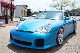 porsche ruf for sale cool looking minerva blue metallic porsche 996 turbo rare cars