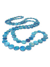 blue pearl necklace images Oyster bay collection lagoon blue double strand mother of pearl jpg