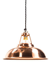 factorylux made in uk hand spun solid copper coolicon lamp shade