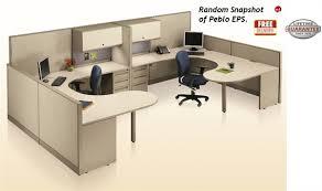 Office Desk Cubicles The Office Leader Peblo 2 Person U Shape Office Desk Cubicle