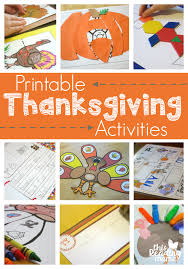 printable thanksgiving activities for