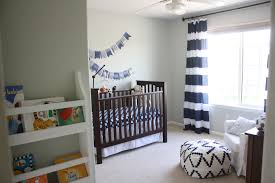 Navy Blue And White Striped Curtains Benjamin Moore Gray Owl Nursery