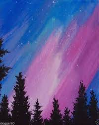 northern lights painting search projects to try