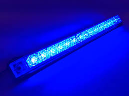 Amber Led Strip Lights by Marine Boat Blue Led Strip Light 23lm Surface Mount 12v 3w Ip67