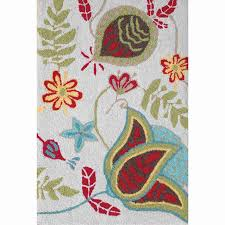 shop style selections hooked memory foam rug rectangular indoor