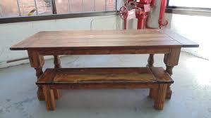 talbot dining table farmhouse reclaimed wood custom