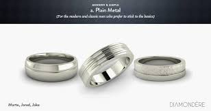 mens wedding band metals men s wedding bands de mystified