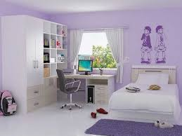 Plum Bedroom Decor Purple Bedroom Decor Ideas With Computer Table And Ergonomic Chair