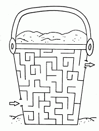 maze coloring page fablesfromthefriends com