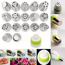 flower decorating tips 17pcs russian tulip flower icing piping nozzles cake decoration