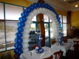 candle balloon bat mitzvah balloon arch and centerpiece with candle decoration