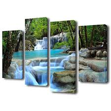 home decor waterfalls framed waterfall forest nature landscape canvas art print picture