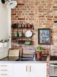 kitchen with brick backsplash uncategories white washed exposed brick brick backsplash how to